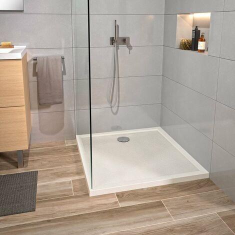 CAREA - Receveur CAPRI carré 90x90 cm - Couleur receveur - Blanc - Blanc
