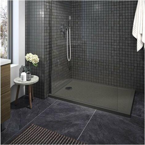 CAREA - Receveur CAPRI rectangle 80x120 cm - Couleur receveur - Gris - Gris