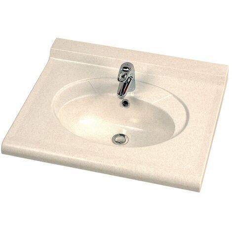 CAREA - Vasque Carina Sable moucheté et équerres standard - Blanc