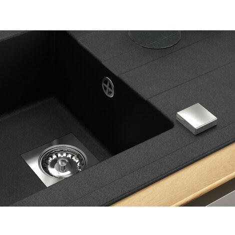 CAREA - Vidage automatique 1 cuve modèle carré chromé - chromé