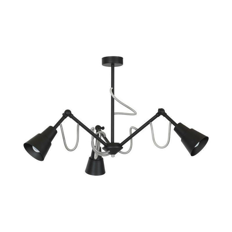 Homemania - Carena Black Haengelampe - Kronleuchter - Deckenkronleuchter - Schwarz aus Metall, 82 x 82 x 38,5 cm, 3 x E27, Max 60W