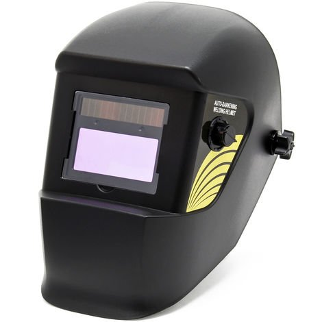 Careta de soldadura Black unlimited, oscurecimiento completamente automático, gran campo de visión