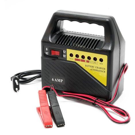 Cargador baterías vehículos 6V 12V 6A Batería Dispositivo carga Automóviles Taller mecánico Garaje