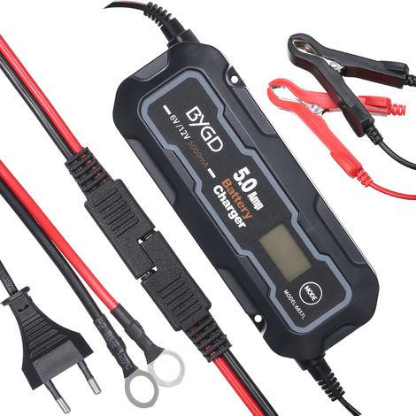 Cargador de bateria 6V / 12V 5000mA, Mantenimiento automatico del cargador de bateria de 5Amp