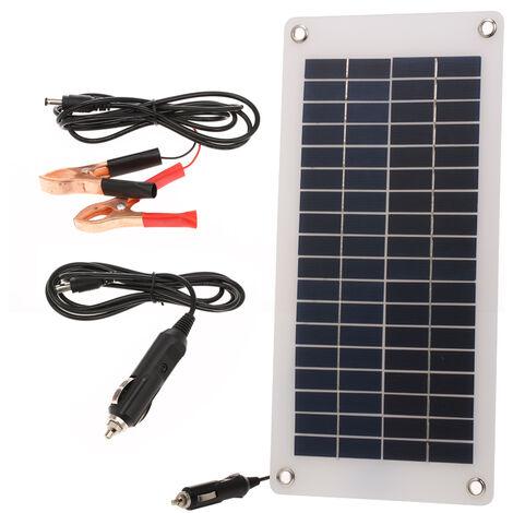Cargador de bateria de coche solar de 8.5W / 12V, con encendedor de cigarrillos, panel de energia solar portatil semiflexible