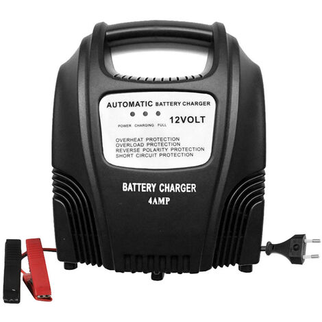 Cargador de bateria de motocicleta y coche inteligente de 12V 2.4A, bateria completamente automatica, cargador de bateria de plomo acido AGM GEL WET