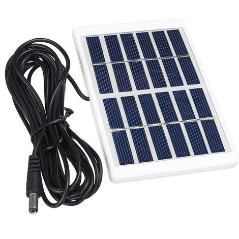Cargador de batería del panel de energía solar de polisilicio de la energía solar del panel solar de 5W 6V + Cable Mohoo de 3M