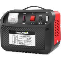 Cargador de bateria multifuncion 12V/24V 30A coche y moto -GREENCUT
