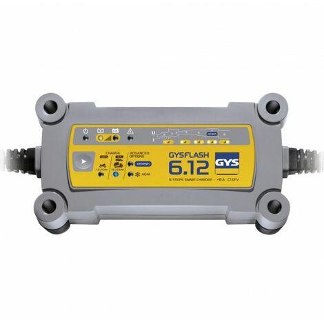 Cargador de batería Plomo 12V 6A de 1.2 a 125Ah GYSFLASH 6.12