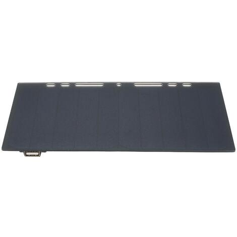 Cargador de panel solar de silicio monocristalino portatil en forma de papel de alta potencia 10W, puerto USB