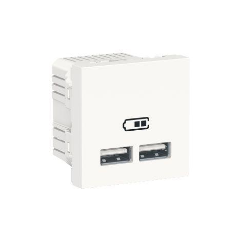 Cargador doble USB 2,1A 2 mod. Polar SCHNEIDER ELECTRIC NU341818