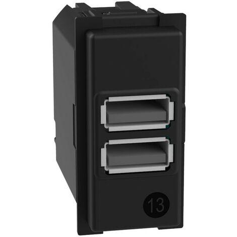 Cargador doble USB Bticino Living Now EN el TIPO 3A K4285C2