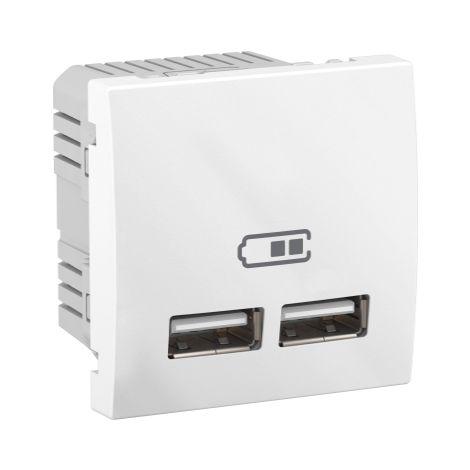 Cargador para empotrar USB 2,1 A Blanco SCHNEIDER ELECTRIC MGU3.418.18