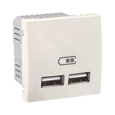 Cargador para empotrar USB 2,1 A Marfil SCHNEIDER ELECTRIC MGU3.418.25