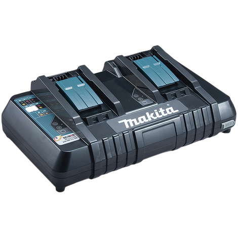 Cargador rápido 18V Litio-ion para 2 puertos Makita DC18RD