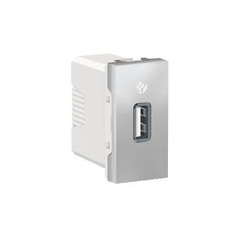 Cargador simple USB 1A 1 mod. Aluminio SCHNEIDER ELECTRIC NU342830