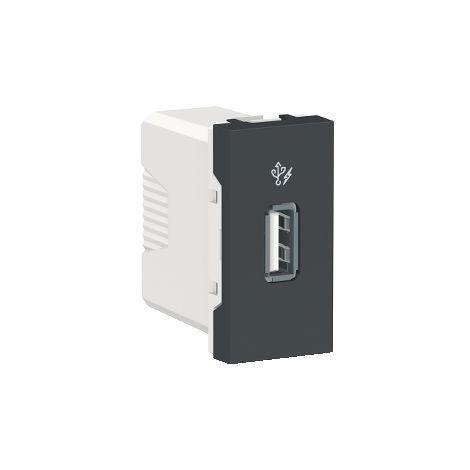 Cargador simple USB 1A 1 mod. Antracita SCHNEIDER ELECTRIC NU342854