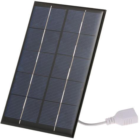 Cargador solar portatil, con puerto USB monocristalino, 2.5W / 5V