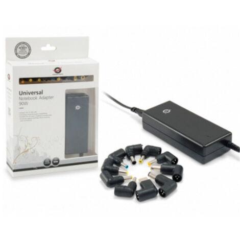 Cargador universal de portatil conceptronic 90w automatico 18v a 20v 10tips