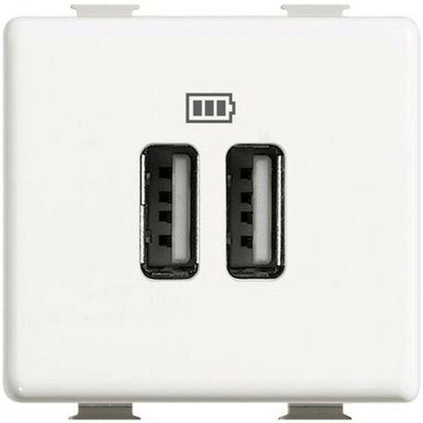 Cargador USB Bticino Matix doble enchufe 5V 1500mA AM5285C2