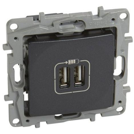 Cargador USB doble Legrand NILOE 665494 Antracita
