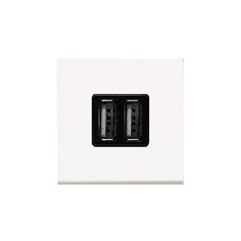 Cargador USB doble Niessen Zenit blanco N2285