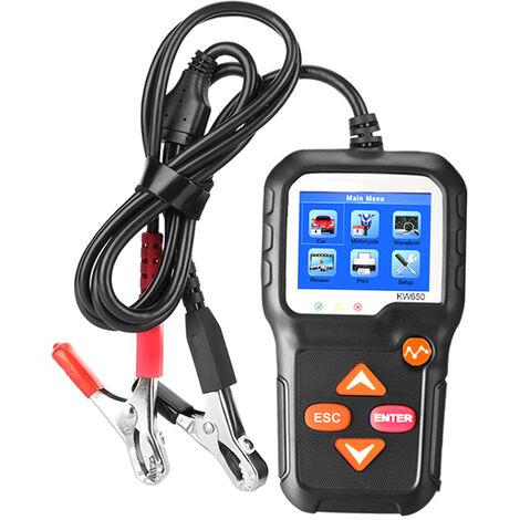 Cargar KONNWEI coche probador de la bateria del coche 12V automatico probador de la bateria en el sistema de arranque y carga de la herramienta de analisis del sistema probador de la bateria del automovil para los coches / SUV / camiones ligeros