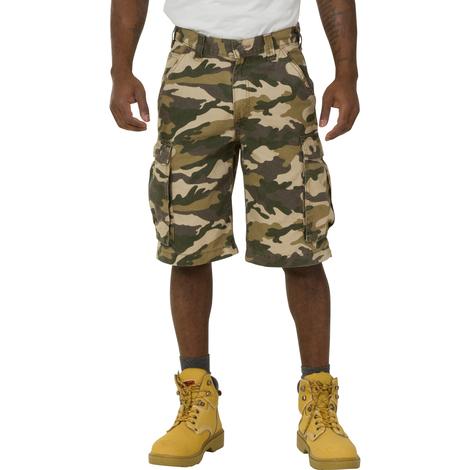 fd9545ca19 Carhartt Rugged Cargo Camo Shorts - Khaki Work Shorts 100279 294 mens  workwear