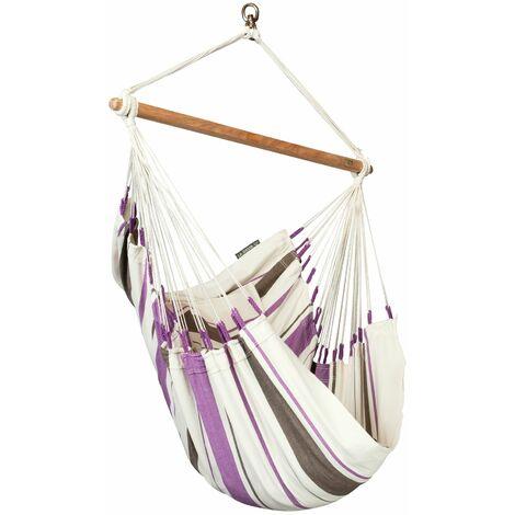 Caribeña Purple - Chaise-hamac basic en coton