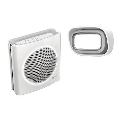 Sonnette sans fil Extel diBi Flash à piles, personnalisable - Blanc