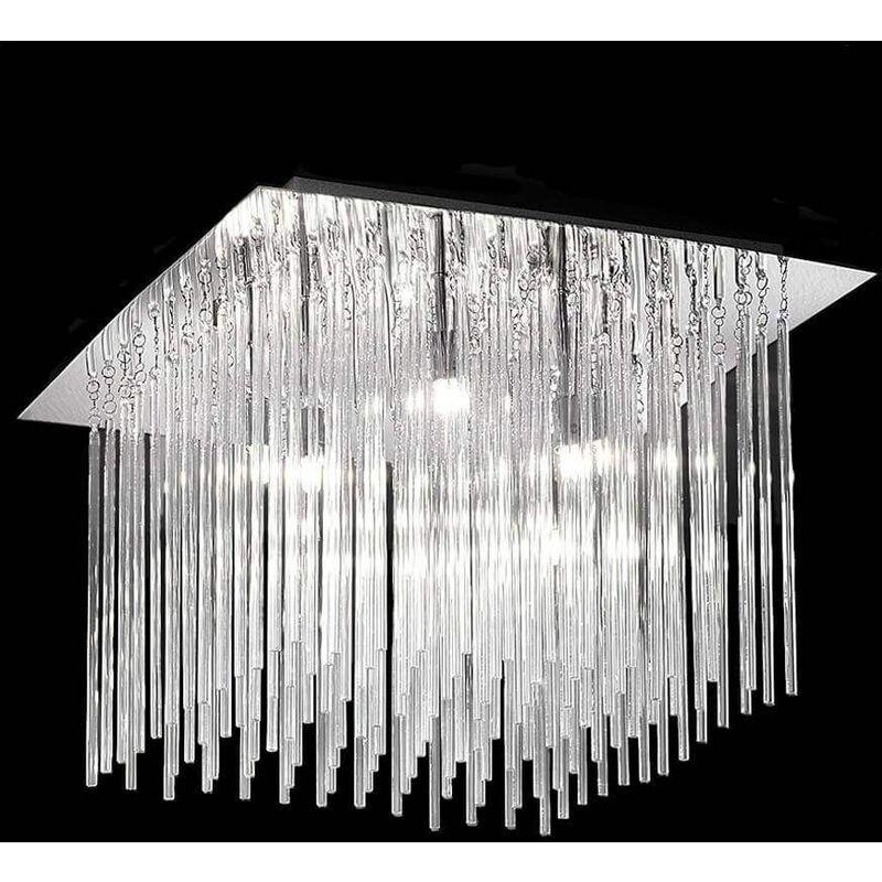 Image of 15-franklite - Carillon chrome ceiling light 8 Bulbs