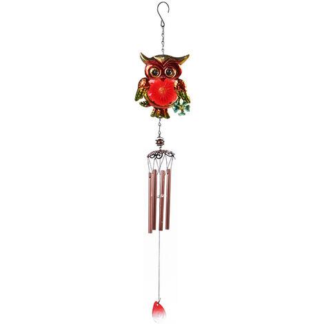 Carillon de viento de cristal colgante buho ornamento en forma de musica relajante Wind Chimes Inicio al aire libre decoracion del jardin, tipo 6