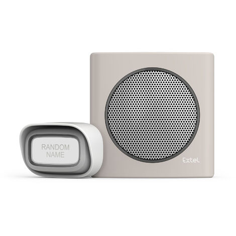 Carillon sans fil avec portée de 200m et 6 sonneries au choix - Extel diBi Flash Soft - Marron