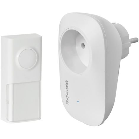 Carillon sans fil enfichable avec prise intégrée, EcoBell 100 Plug, EcoBell 100 Plug