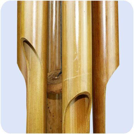 """main image of """"Carillons éoliens carillon bambou déco mobile carillons jeu sonore détente jardin sonnette feng shui 60 cm"""""""