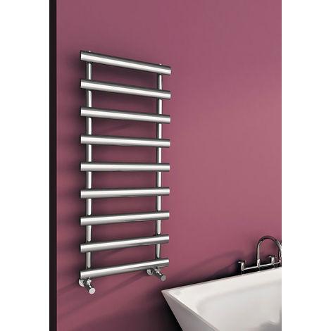 Carisa Aldo Chrome Designer Heated Towel Rail 1200mm x 500mm Dual Fuel - Thermostatic