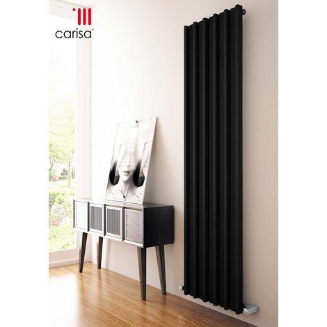 Carisa Barkod Black Vertical Designer Radiator 1800mm x 290mm Central Heating