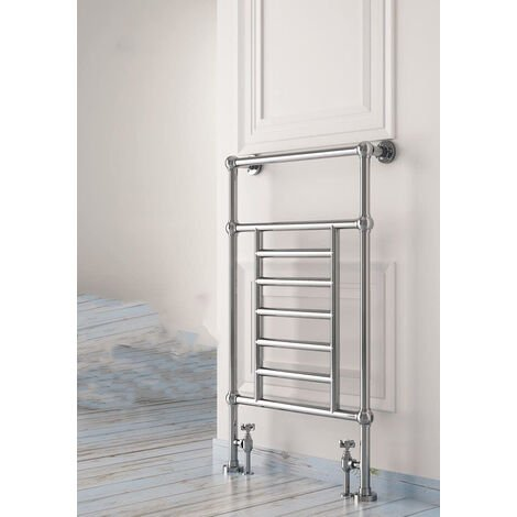 Carisa Edward Floor Standing Traditional Heated Towel Rail 950mm x 650mm Chrome