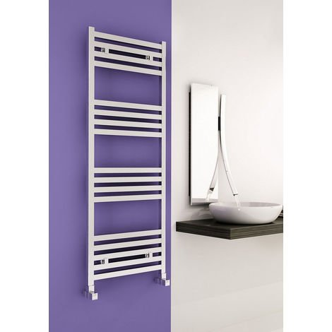 Carisa Fame Polished Aluminium Designer Heated Towel Rail 1460mm x 500mm