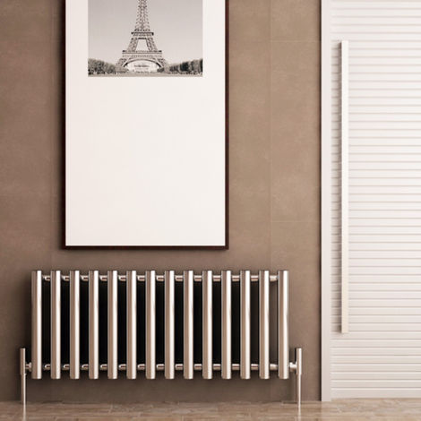 Carisa Mayra Steel Chrome Horizontal Designer Radiator 550mm x 1020mm Central Heating