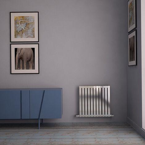 Carisa Sarp Brushed Stainless Steel Horizontal Designer Radiator 600mm x 590mm Central Heating