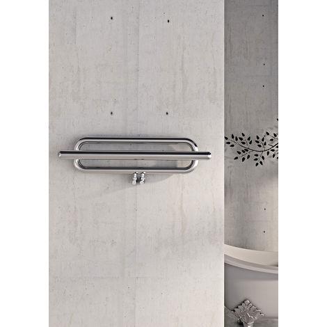 Carisa Swing Brushed Stainless Steel Designer Heated Towel Rail 1000mm x 250mm
