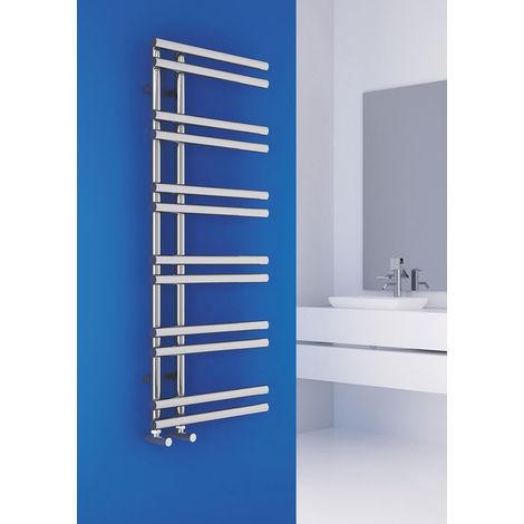 Carisa Tanya Chrome Designer Heated Towel Rail 1000mm x 500mm Dual Fuel - Thermostatic