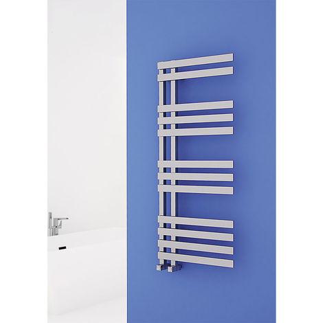 Carisa Verona Chrome Designer Heated Towel Rail 800mm x 500mm Dual Fuel - Thermostatic