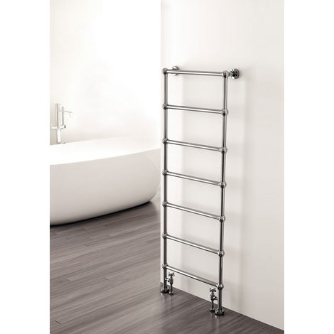 Carisa Victoria Floor Standing Traditional Heated Towel Rail 1340mm x 500mm Chrome