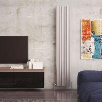 Carisa Wave Aluminium Vertical Designer Radiator 1800mm x 370mm - Polished Anodized