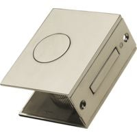 Carlisle Brass Flat Small Sliding Door Set - Polished Chrome