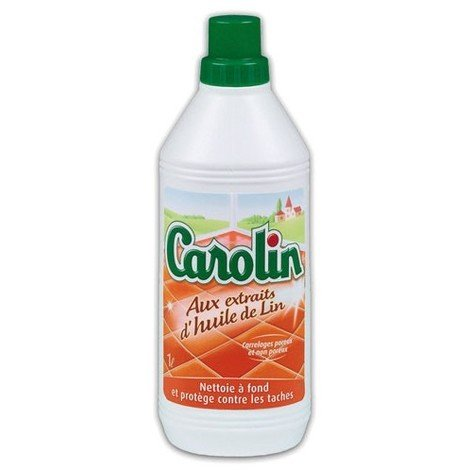 CAROLIN - Nettoyant carrelage aux extraits d'huile de lin - 1 L
