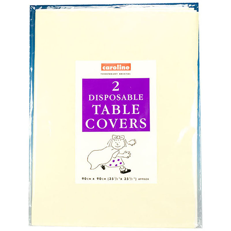 Image of Square Paper Tablecovers (Pack Of 10) (One Size) (Ivory) - Caroline