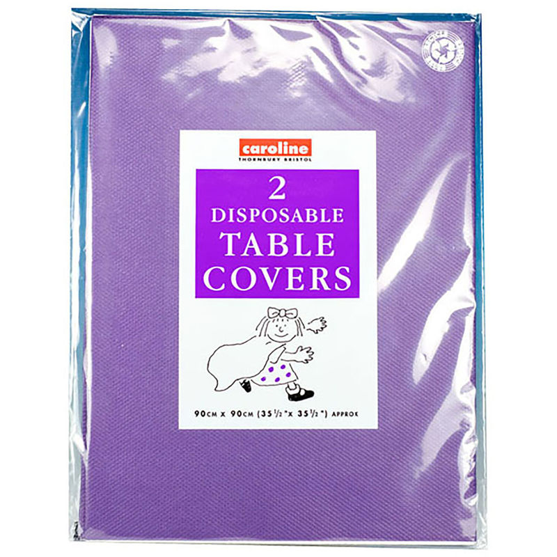 Image of Square Paper Tablecovers (Pack Of 10) (One Size) (Purple) - Caroline